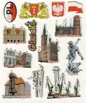 Sticker - Gdansk City, Set of 13