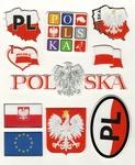 Sticker - Poland, Set of 10