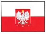 Sticker - Polish Flag with Eagle Crest
