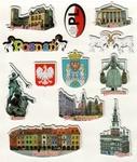 Sticker - Poznan City, Set of 12