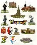 Sticker - Warsaw City, Set of 14