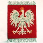 """Tapestry Wallhanging Polish White Eagle,  24"""" x 28"""""""
