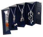 Travel Jewelry Cases - Blue, Crocodile Print, Box of 12