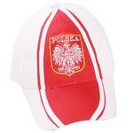 White Baseball Cap - POLSKA, Eagle Crest, Red Center