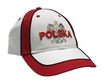 White Baseball Cap - POLSKA on White Eagle