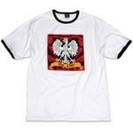 White Eagle Design on White with Black Binding Cotton Tee