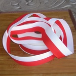 White and Red Decorative Ribbon