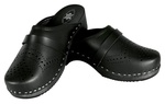 Women's Leather & Wooden Clogs