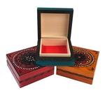 Wooden Box - Floral Design, Square 4x4