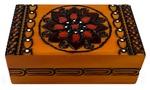 Wooden Box - Floral Design Rectangular 5x3