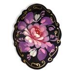Wooden Brooch - Floral Design