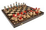 Wooden Chess Set - Babuszka Style, 15x15 inches