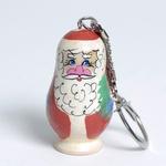 Wooden Keychain - Santa Claus