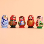 Wooden Magnet - Babuszka Doll, 2 inches Tall