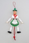 Wooden Pinocchio Puppet Toy - Female