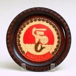 Wooden Plate - Warsaw Mermaid, 8 inch Diameter