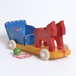 Wooden Pull Toy - Horse Carriage