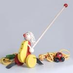 Wooden Push Toy - Clown