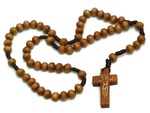 Wooden Rosary, 9 inch