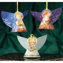 Christmas 3D Card Ornaments - Circle Angels - Set of 3