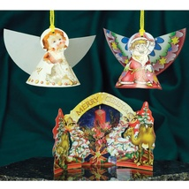 Christmas 3D Card Ornaments - Mix (B) - Set of 3