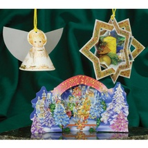 Christmas 3D Card Ornaments - Mix (C) - Set of 3