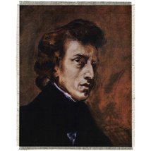 "Silkscreen - E.Delacroix: Portrait of Chopin, 8"" x 11"""