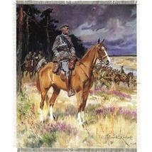 "Silkscreen - W.Kossak: J.Pilsudski Portrait, 8.25"" x 9.75"""