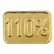 110% Lapel Pin