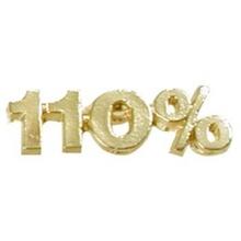 110% Motivational Lapel Pins