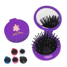 Personalized 2 In 1 Hair Brush & Mirror