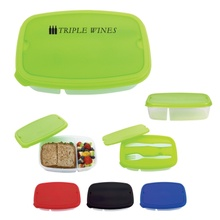 2-Section Lunch Container with Custom Imprint