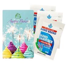 3 Gel Sanitizer Packets in Custom Pack