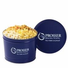 Custom 2 Gallon 4-Way Popcorn Tins