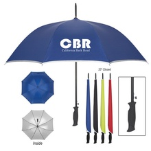 "48"" Silver Accent Umbrella"