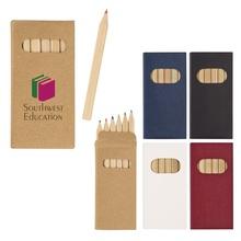 6-Piece Colored Promotional Pencil Set