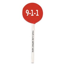 9-1-1 Lollipops with Imprinted Sticks