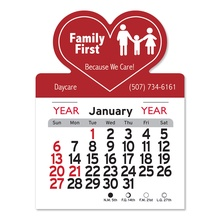 Adhesive Peel-N-Stick Heart Shape 2022 Calendars