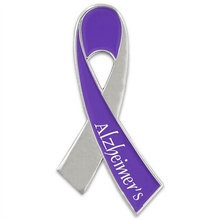 Alzheimer's Awareness Ribbon Pin