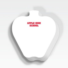 """Apple 25 Sheet 3"""" x 3"""" Personalized Adhesive Note Pad"""