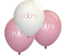 Breast Cancer Awareness Hope Ribbon Balloons