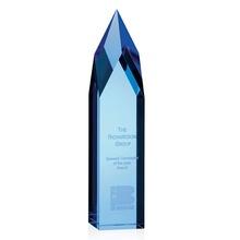 Custom Etched Blue Ice Pillar Award
