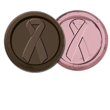 Breast Cancer Awareness Chocolate Coin