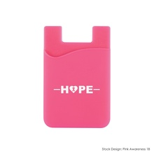 Breast Cancer Awareness Silicone Phone Wallets