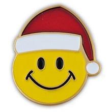 Christmas Smiley Face Lapel Pin