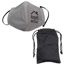 Imprinted Microfiber Cooling Mask with Travel Pouch