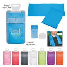 Cooling Towel in Personalized Plastic Case