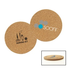 Cork & Fiberboard Round Coaster