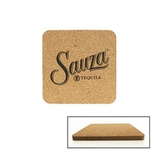 Personalized Cork & Fiberboard Square Coaster