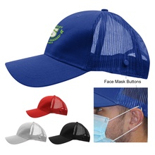 Embroidered Cotton Twill Mesh Back Mask Cap